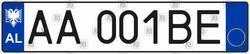 Автомобильный номер Албании