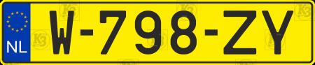 Netherlands car number