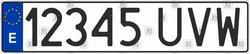 Автомобільний номер Іспанії