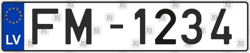 Автомобільний номер Латвії