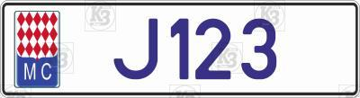 Автомобільний номер Монако