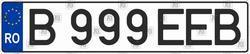 Автомобильный номер Румынии