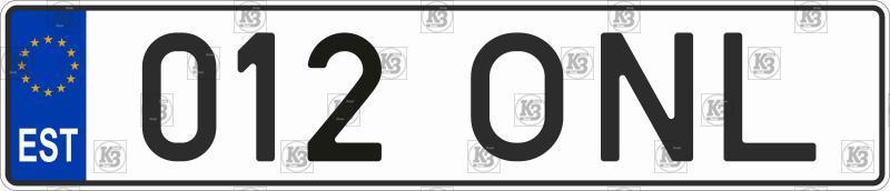 Estonian car number