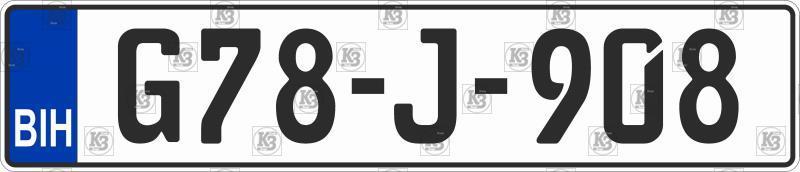 Автомобільний номер Боснії