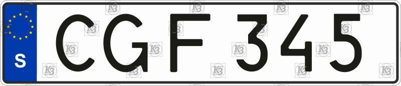 Автомобільний номер Швеції