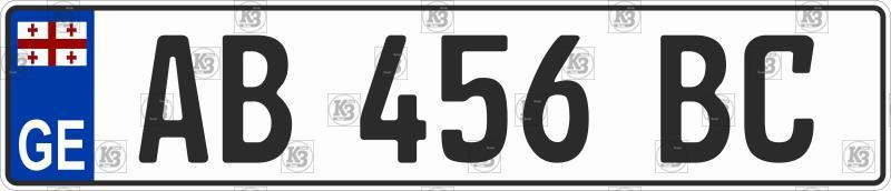 Автомобильный номер Грузии