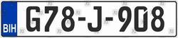 Автомобильный номер Боснии