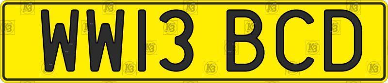 Автомобільний номер Англії