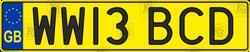 Car number england