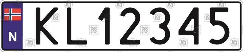 Автомобільний номер Норвегії