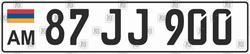 Автомобильный номер Армении