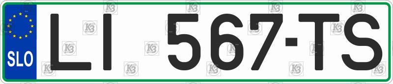 Автомобільний номер Словенії