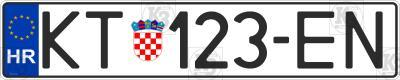Croatia car number