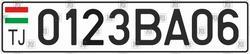Автомобільний номер Таджикистану