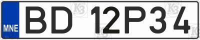 Автомобільний номер Чорногорії