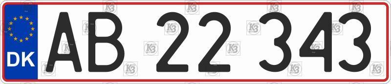 Автомобільний номер Данії