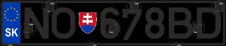 Автомобільний номер Словаччини
