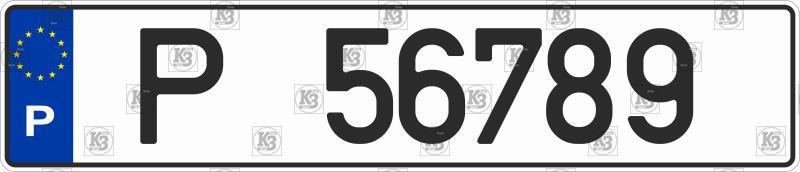 Автомобильный номер Португалии