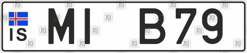 Автомобільний номер Ісландії