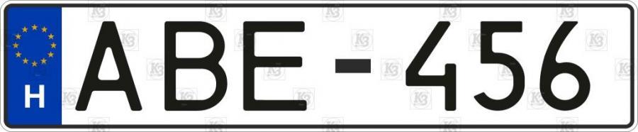 Дублікат угорського номера, неоригінальний шрифт