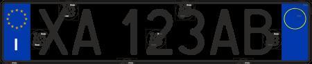 Автомобильный номер Италии