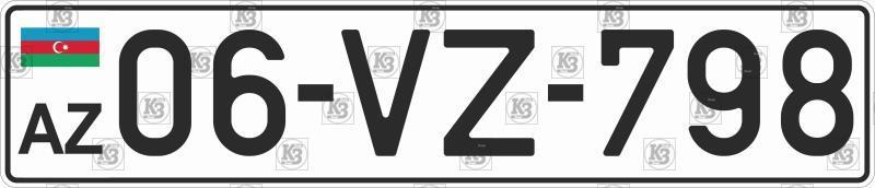 Автомобильный номер Азербайджана