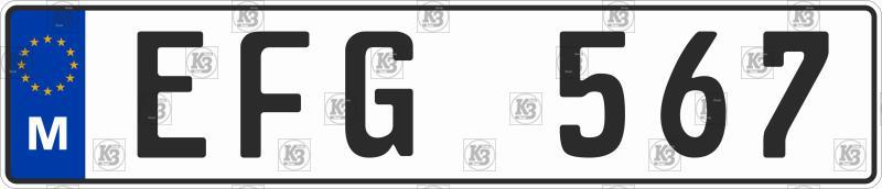 Автомобильный номер Македонии