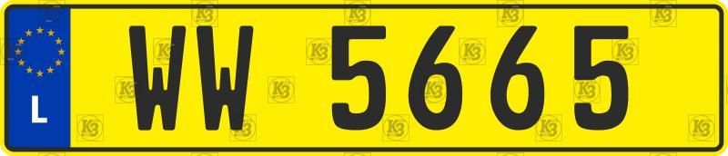 Автомобильный номер Люксембурга