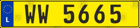 Luxembourg car number