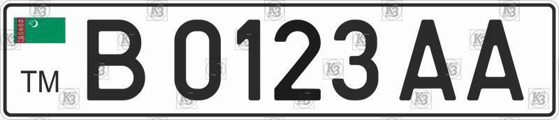 Автомобільний номер Туркменії