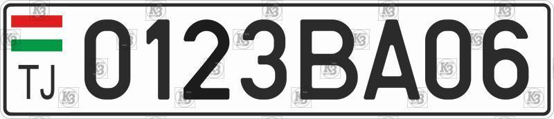 Автомобильный номер Таджикистана