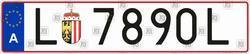 Car number Austria