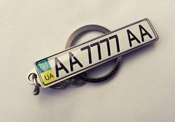 Keychain number plates