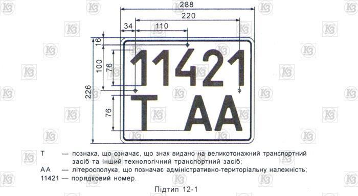 ГОСТ 3650. Автономер Тип12